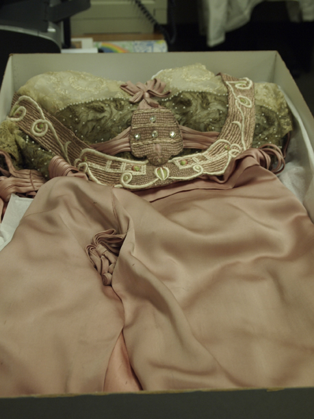 The Laura Tanner Davidson ball gown laid to rest, February 9, 2012.