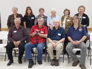 Staff did it. We managed to corral the MCHS board and Executive Director for a group picture, something we're pretty sure  hasn't happened since the original 1936 board. MCHS 75th anniversary celebration, Royalton American Legion, September 18, 2011.