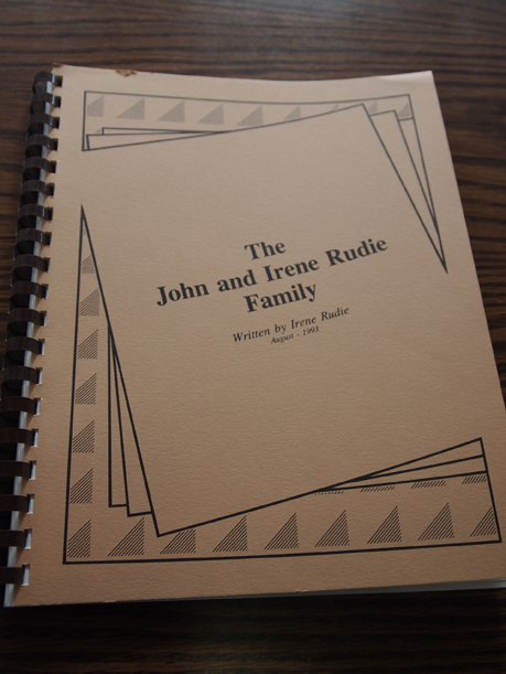 The John and Irene Rudie Family, written by Irene Rudie, August 1993