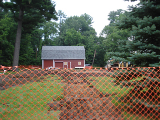 Demolition site of the former Dewey-Radke House, Little Falls, MN, August 31, 2011.