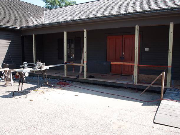 New support beams and floor on the porch, July 5, 2012.