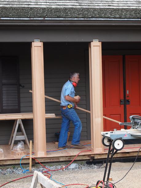 Bob Maschler hard at work, July 6, 2012.