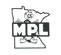 "Minnesota Power & Light company symbol featuring Reddy Kilowatt, from ""Changing With the Times,"" a Minnesota Power brochure, 1987."