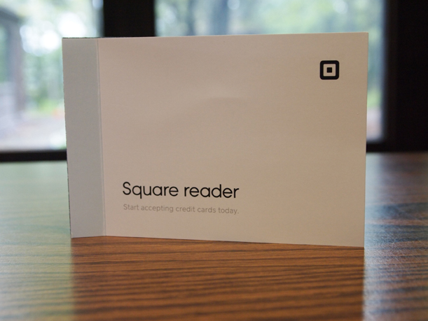 The museum's Square reader arrived in the mail today.