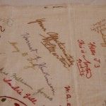 Embroidered Autographs, Detail 7 - MCHS Collections #1971.10.296