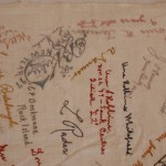 Embroidered Autographs, Detail 6 - MCHS Collections #1971.10.296
