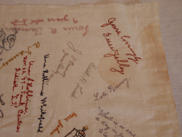 Embroidered Autographs, Detail 5 - MCHS Collections #1971.10.296