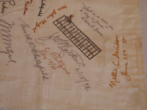 Embroidered Autographs, Detail 4 - MCHS Collections #1971.10.296