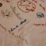 Embroidered Autographs, Detail 2 - MCHS Collections #1971.10.296