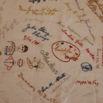 Embroidered Autographs, Detail 13 - MCHS Collections #1971.10.296