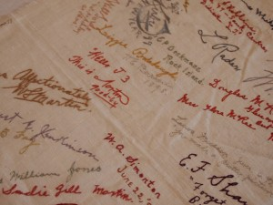 Embroidered Autographs, Detail 9 - MCHS Collections #1971.10.296