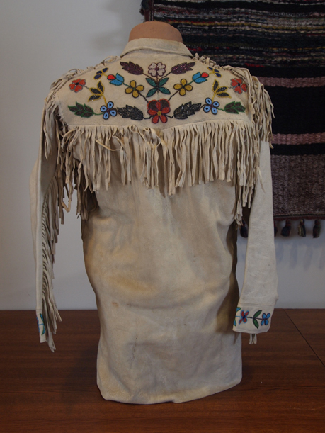 Beaded leather shirt - MCHS Collections, #1966.5.1