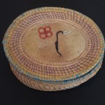 Basket with beadwork details - MCHS Collections, #1971.6.12 a&b