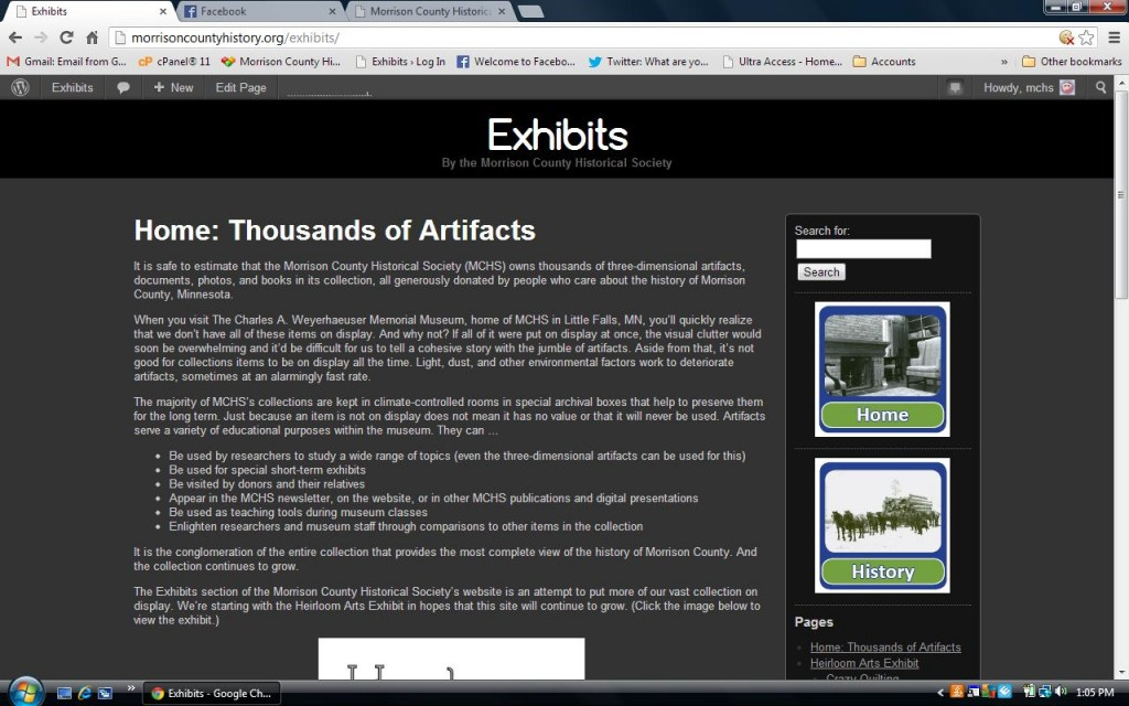 MCHS Exhibit Website