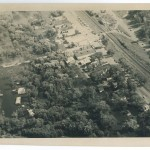 Aerial view, 1972 Flood, Morrison County, Minnesota. Photo by Gene Dubois for the Little Falls Daily Transcript. From the Morrison County Historical Society collections.