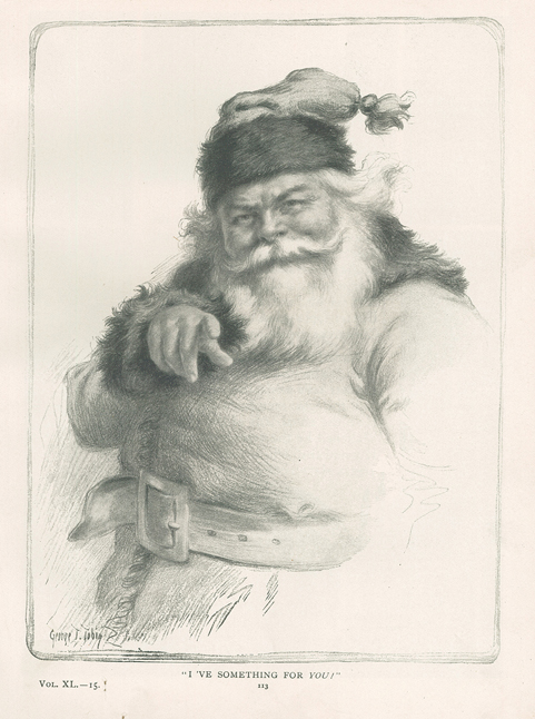 Drawing of St. Nicholas by George T. Tobin from St. Nicholas magazine, Vol. XL, No. 2, December 1912.