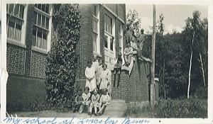 Lincoln School in Lincoln, Minnesota, Circa 1925