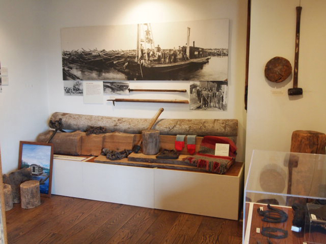 Permanent exhibit, Charles A. Weyerhaeuser Memorial Museum, Little Falls, MN, May 6, 2011.