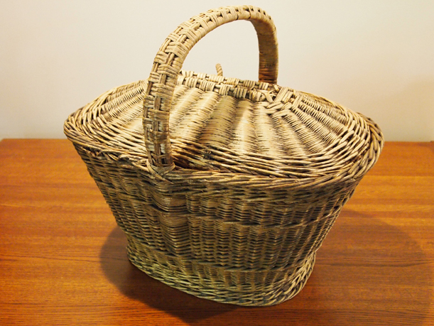 This 1878 market basket, donated by Henry Wuellner to the MCHS collection, looks like it could double as a picnic basket. #1945.25.1a&b from the MCHS collection.