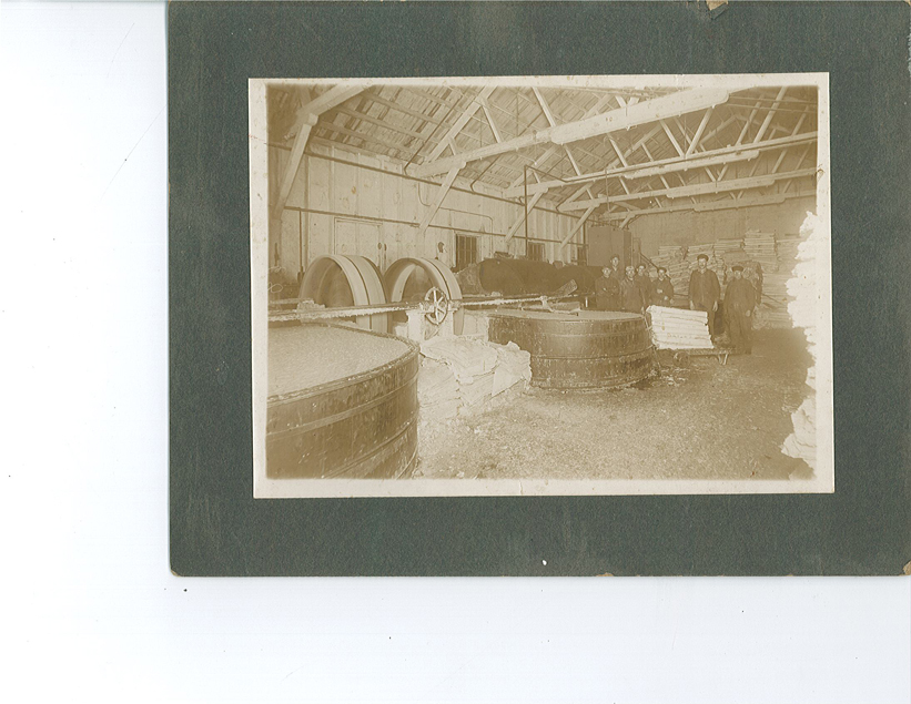 Interior of Hennepin Paper Mill, Little Falls, MN, c. 1920, possibly the beater room. MCHS collections #2006.26.1.