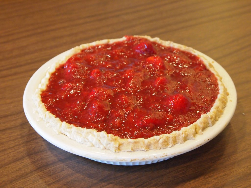 Homemade pie by Camille Warzecha. Six of Camille's pies are one of MCHS's 2017 raffle prizes.