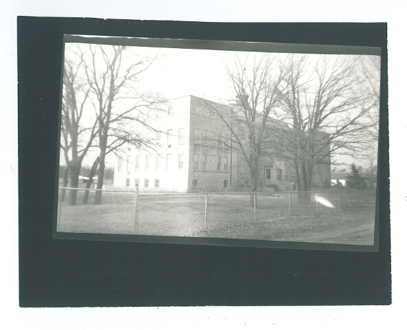 Our Lady of the Angels Academy, Belle Prairie, MN. This served as the school for the Holy Family Church in Belle Prairie. The building has been rehabilitated and currently serves as rental housing. Undated photo. #1979.16.29b.