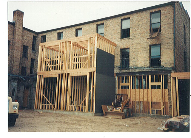 Remodeling of Buckman Hotel as apartments, 1994. #1999.73.22a.