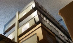 Boxes in the Archives, The Charles A. Weyerhaeuser Memorial Museum, Little Falls, MN.