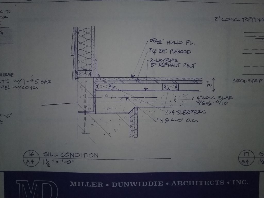 Blueprint drawing showing ends of sleepers in Archives at The Charles A. Weyerhaeuser Memorial Museum.