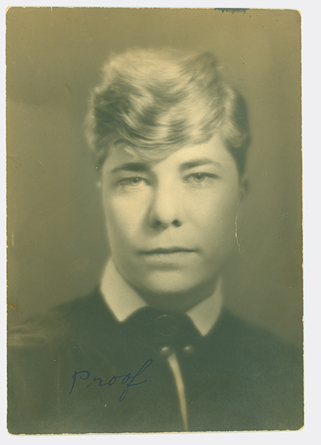 Laura Jane Moyer, often known simply as Jane Moyer, undated photo. #1977.29.93