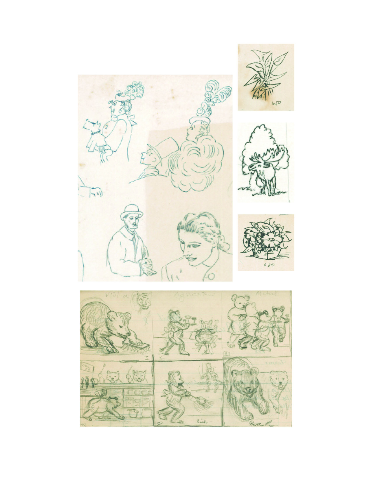 A selection of drawings by Jane Moyer from the collections of the Morrison County Historical Society.