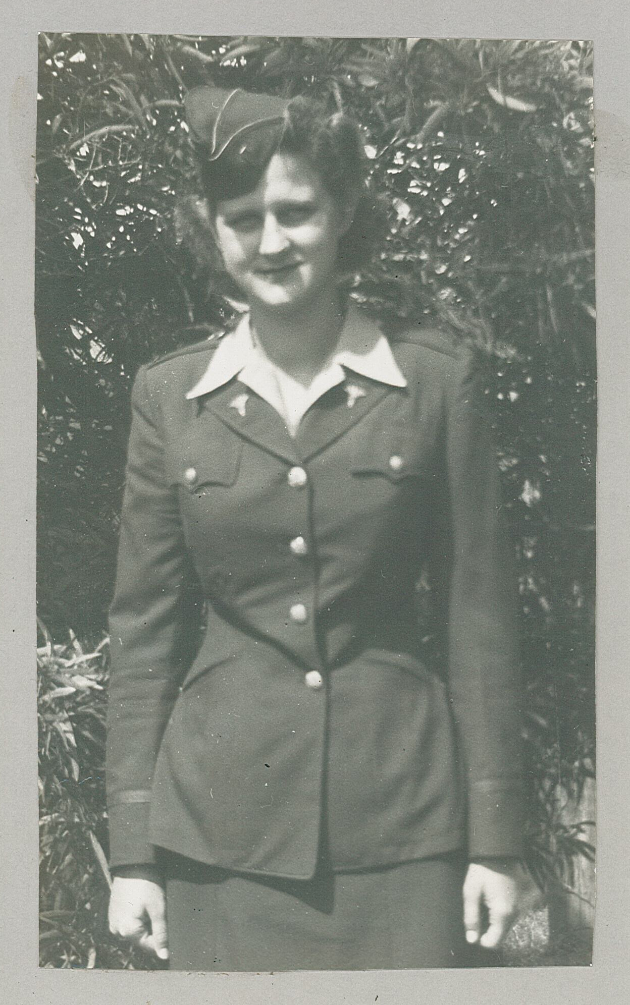 Cecelia Schmolke, photo from American Legion Honor Roll, World War II scrapbook, MCHS collections, #1980.11.1.