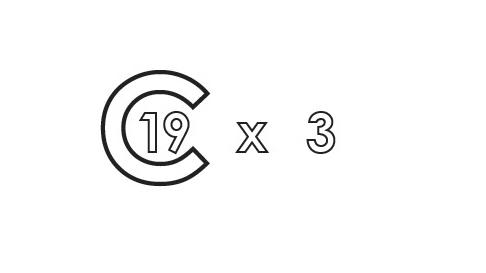 C-19 x 3 symbol.