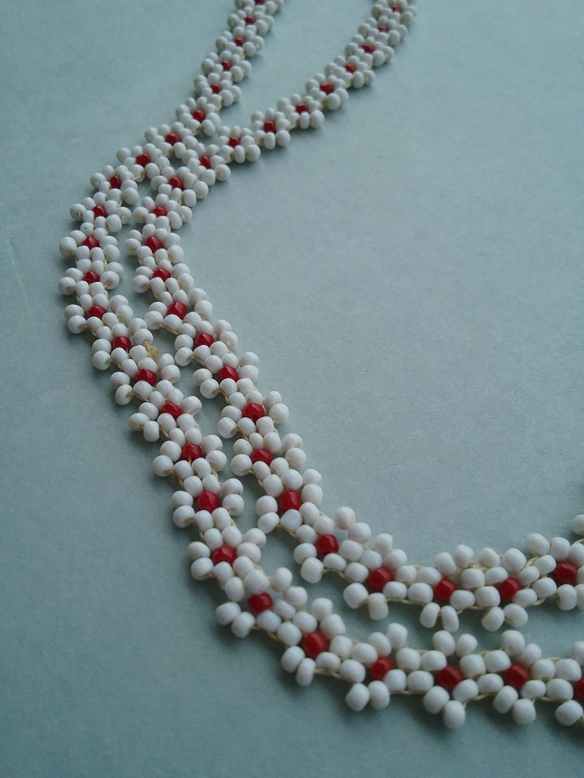 Detail of Seed Bead Necklace. MCHS collections, #2004.87.1.