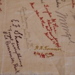 Embroidered Autographs, Detail 3 - MCHS Collections #1971.10.296