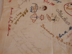 Embroidered Autographs, Detail 1 - MCHS Collections #1971.10.296