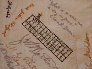 Embroidered Autographs, Detail 11 - MCHS Collections #1971.10.296