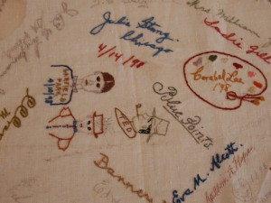 Embroidered Autographs, Detail 10 - MCHS Collections #1971.10.296
