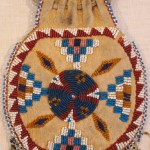 Beaded leather Indian purse - MCHS Collections, #1984.14.1