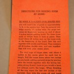 Rug making braiders and instructions - MCHS Collections, #2002.9.6