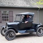 Andy Staricka in his 1925 Ford Roadster, Heirloom Arts Day, June 8, 2013, Weyerhaeuser Museum