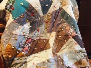 Crazy quilt - On loan from Diane Gall