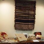 Pat Libke's rug hooking display, Heirloom Arts Day, June 8, 2013, Weyerhaeuser Museum