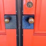 Doorknobs on front door of The Charles A. Weyerhaeuser Memorial Museum.