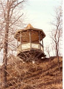 Gazebo at Weyerhaeuser Museum from below, 1984.