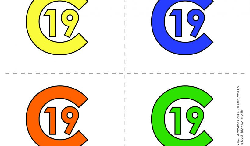 C-19 symbols for remembering those who have died of or survived COVID-19, May 27, 2020.
