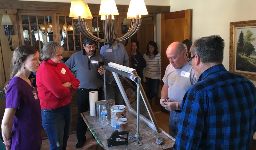 Rethos window repair workshop with Paul Schmidt.