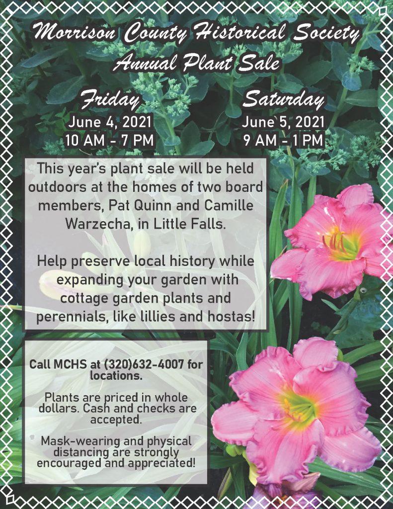 2021 MCHS Plant Sale Flyer.